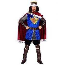 Disfraz rey con capa roja