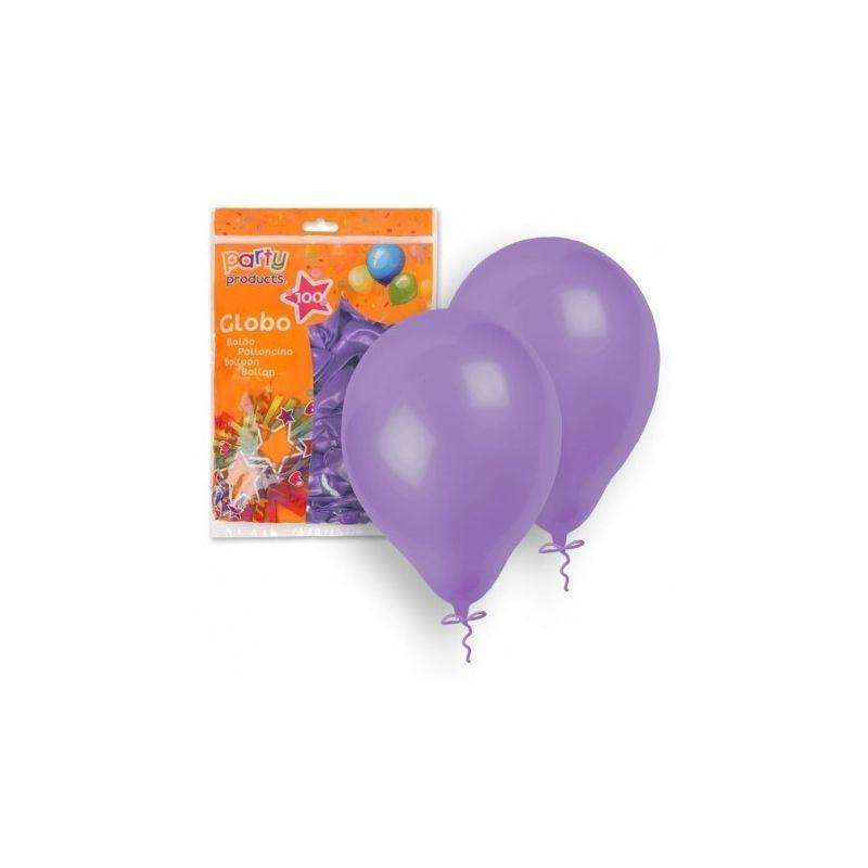 pack 100 globos lilas
