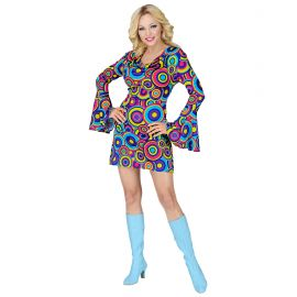 Disfraz chica azul años 70