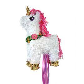 Piñata unicornio dorado volumen