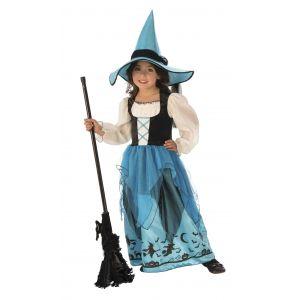Disfraz bruja turquesa infantil