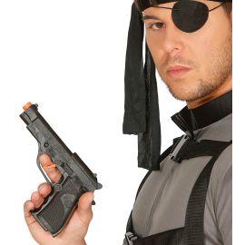 Pistola detective negra 19cm
