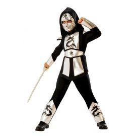 Disfraz dragon ninja silver