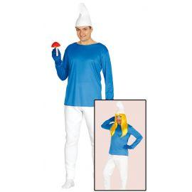 Disfraz enanito azul adt