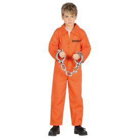 Disfraz preso naranja inf