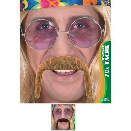 Bigote hippie rubio