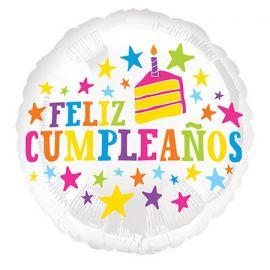 Globo helio felicidades tarta
