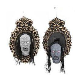 Espejo con cabeza que salta