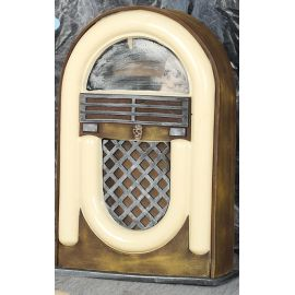 Radio antigua terror luz y sonido 21x33