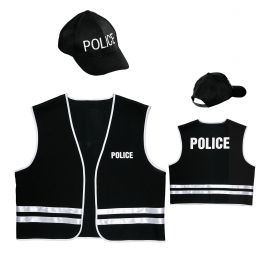 Gorra y chaleco policia adt