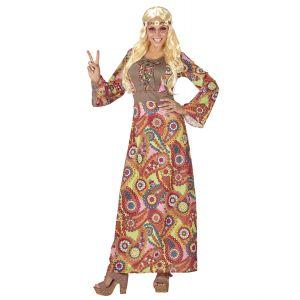 Disfraz hippie mujer largo
