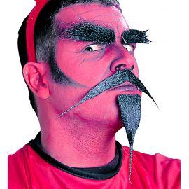 Set diablo bigote cejas y perilla