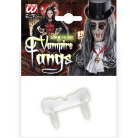 Dientes vampiro fluorescentes