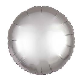 Globo helio jumbo circulo plata