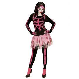 Disfraz esqueleto rosa adt
