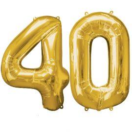 Globo helio numero 40 oro