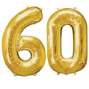 Globo helio numero 60 oro