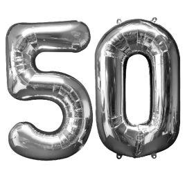 Globo helio numero 50 plata