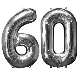 Globo helio numero 60 plata