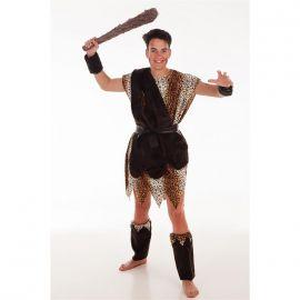 Disfraz cavernicola hombre con garrota