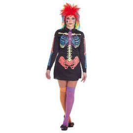 Disfraz esqueleta color