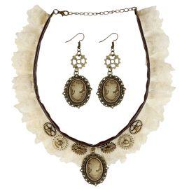 Set collar y pendientes steampunk