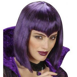 Peluca vampiresa gotica violeta