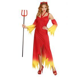 Disfraz diablesa llamas