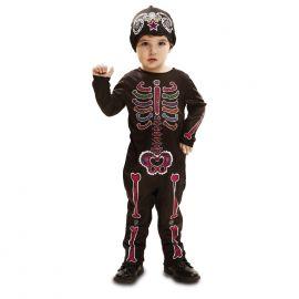 Disfraz esqueleto color 1-2
