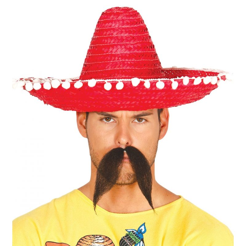 Sombrero mexicano rojo 45 cm 1069cb4d4b9