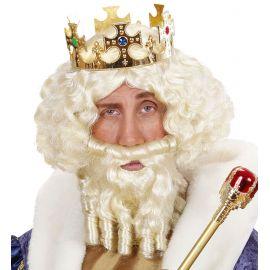 Peluca rey tirabuzon rubia