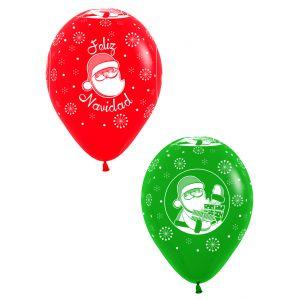 Globos feliz navidad rojo y verde