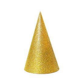 Sombrero cono escarcha oro