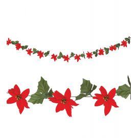 Guirnalda flor de navidad 2m