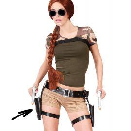 Cartuchera doble con pistola