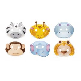 Pack 6 caretas animales