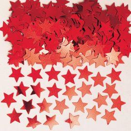 Confetti estrellas rojas