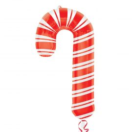 Globo helio candy cane baston