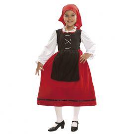 Disfraz pastora rojo con delantal