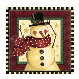 Servilletas navidad snowman 16 und