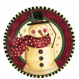 Platos cozy snowman postre