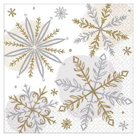 Servilletas coctel snow