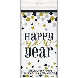 Mantel plastico happy new year