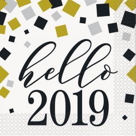Servilletas happy new year 16 und