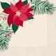 Servilletas flor de navidad