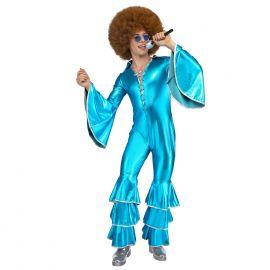 Disfraz disco turquesa hombre