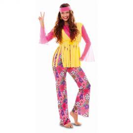 Disfraz hippie chica divertida