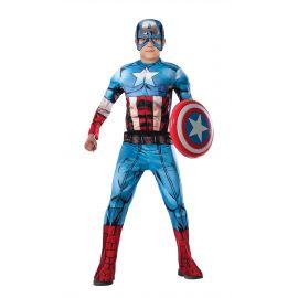 Disfraz capitan america musculos inf