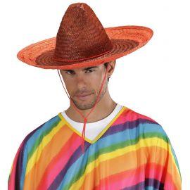 Sombrero mexicano naranja