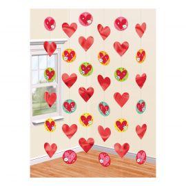 Colgantes corazones caritas 2.13m